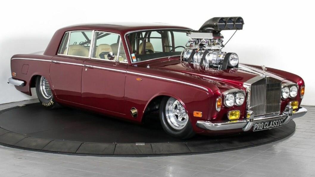MEST KLIKK: Her er bilen flest nordmenn klikker på. En ombygget og håndlaget Rolls Royce. Foto: TJ Auto