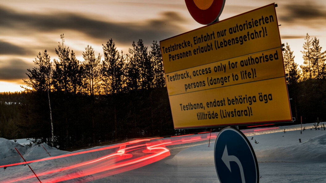 SVENSKE TILSTANDER: Den største delen av testen er gjort på det store testanlegget i Arvidsjaur i nord-Sverige. Foto: Peter Gunnars
