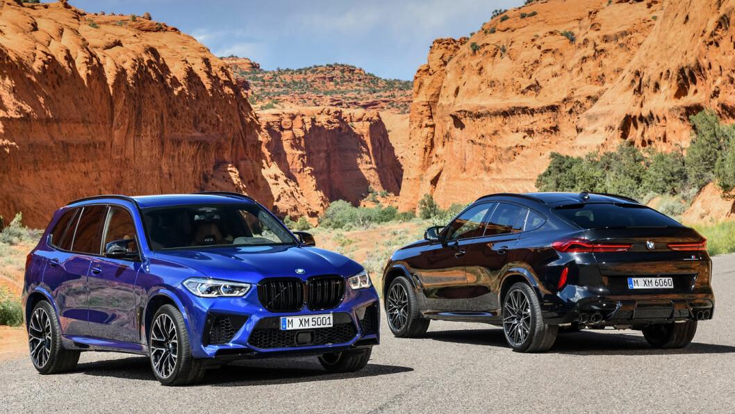 RÅERE VARIANTER: BMW gjør sine allerede kraftfulle SUV-er X5 og X6 enda råere i M-versjonene.