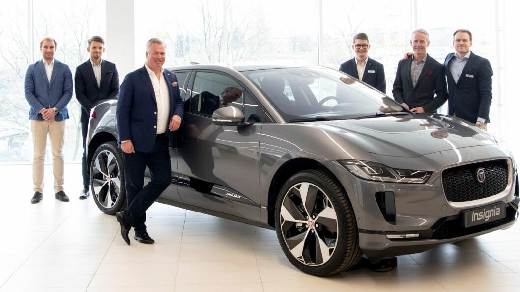 SUKSESS: Denne gjengen hos Insignia i Oslo har fått dreisen på Jaguar-salget etter at I-Pace kom på markedet.