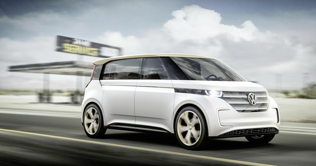 BUDD-e: Med denne elektriske familiebilen med rekkevidde på 500 kilometer, skal VW  bygges opp igjen sitt gode navn og rykte. Foto: Produsenten
