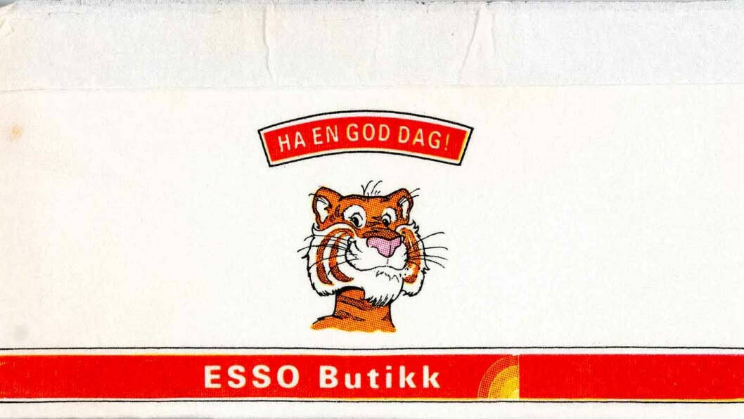 TIGER PÅ TANKEN: Tigeren fulgte Esso i mange år.