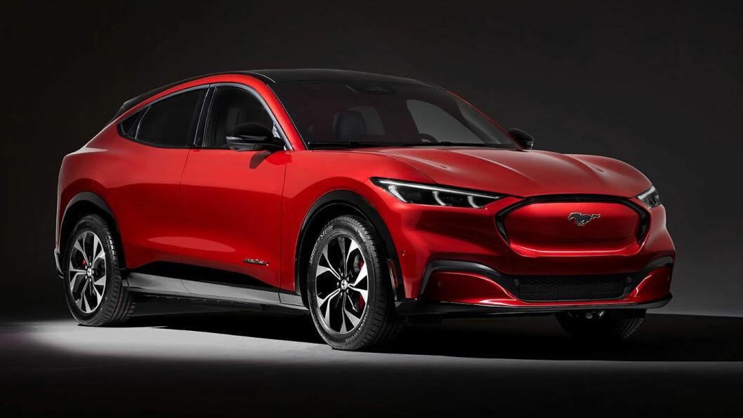 STOR FORVENTNING: Mange gleder seg til lanseringen av Fords el-SUV, som vil konkurrere mot Tesla Model Y.