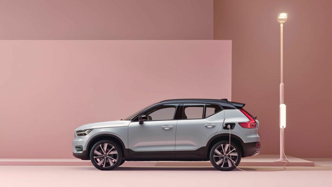 ENDELIG KLAR: Omsider kan Volvo presentere sin elektriske SUV XC40. Over 7000 nordmenn har meldt sin interesse for bilen, som kommer med firehjulsdrift og mulighet for tilhengerfeste. Foto: Volvo Car