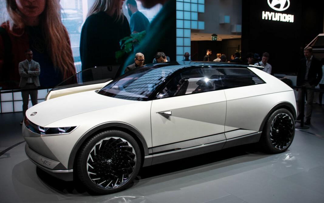 SATSER: Hyundai Motor Group investerer gigantiske summer i moderne mobilitetsteknologi og sin nye elbilplattform. Her konseptbilen 45.