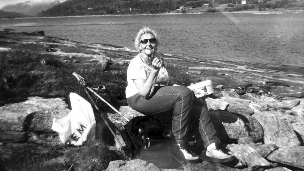 AKTIV TIL DET SISTE: Rønnaug Loe Ildgruben var sprek og i god form fram til hun ble påkjørt. Foto: Privat