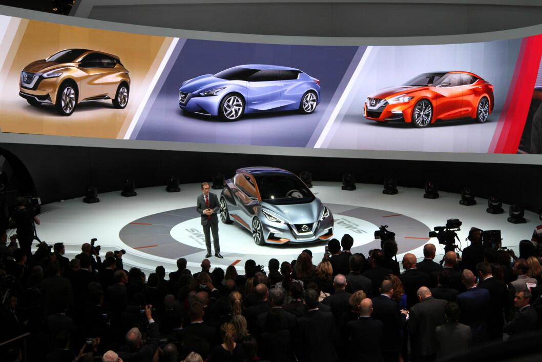 SPENNENDE: Når nye Nissan Micra kommer om noen måneder, får den klare trekk fra konseptbilen Sway, Foto: Rune Korsvoll