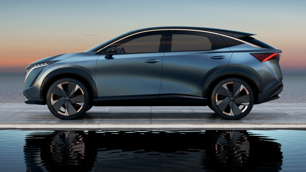 DEN NESTE: Nissans elektriske konsept-SUV, Ariya, kommer i salg i 2021.