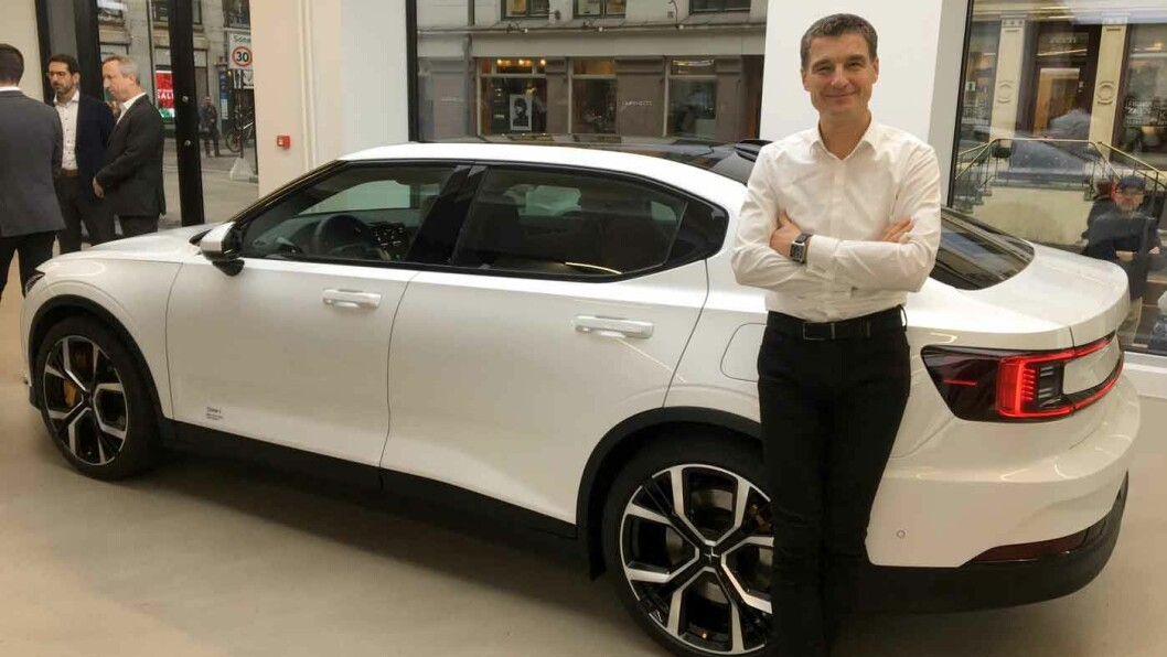 LOOK TO NORWAY: – Vi har sett til Norge når vi nå lanserer en helelektrisk bil. Norge er et modent marked når det kommer til elbil, sammenlignet med resten av Europa, sier Thomas Ingenlath, administrerende direktør i Polestar.