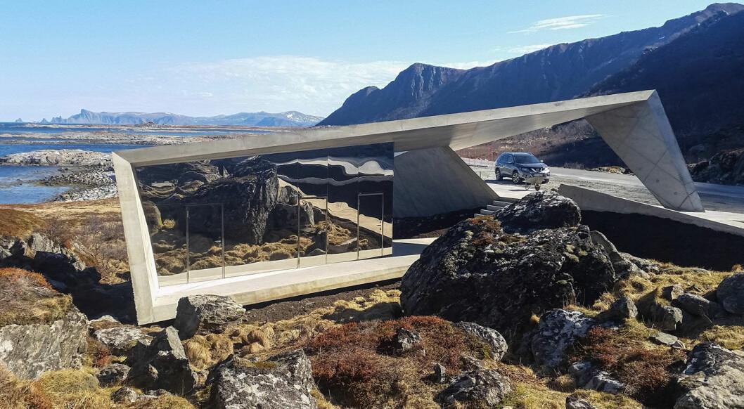 ET LITE STYKKE NORGE: Rasteplassen Bukkekjerka på Andøya. Foto: Hugo Fagermo