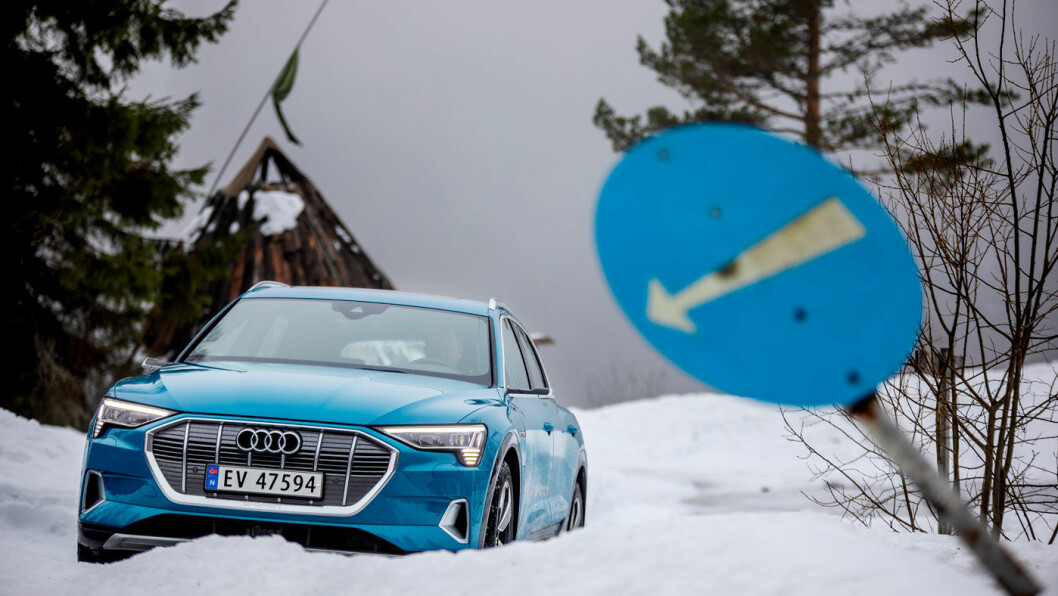 NORSK FAVORITT: Audi e-tron topper det norske bilsalget, men Audi og de andre merkene i Volkswagen-konsernet er ikke spesielt godt rustet for tiden etter krisen, mener eksperter.