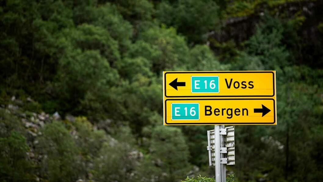 NORGES VERSTE VEI: E16 mellom Bergen og Voss er kåret til den farligste veien i landet. Foto: Benjamin Ward