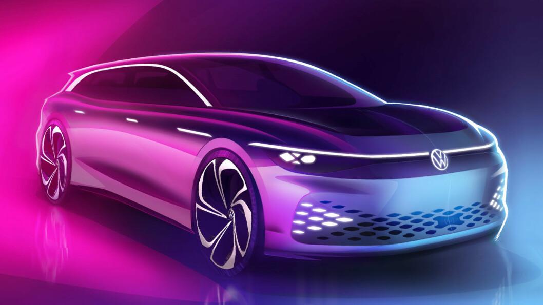 NUMMER SJU: ID. SPACE VIZZION er «en studie, men ingen fremtidsdrøm», lover Volkswagen. Produksjonsutgaven vil bli lansert i 2021. Foto: VAG