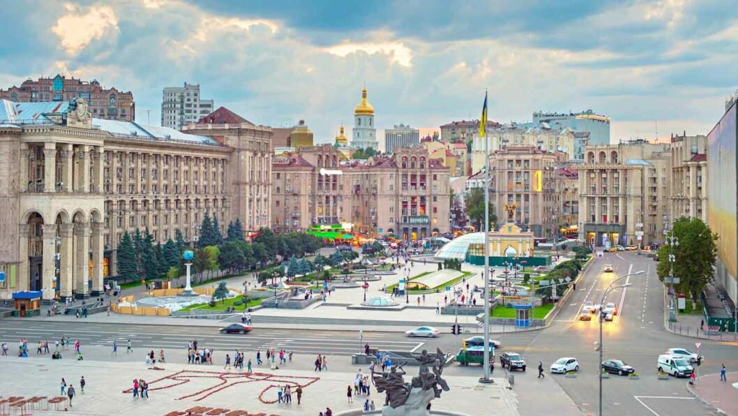 MAIDANPLASSEN: Frigjøringsplassen i Kiev.