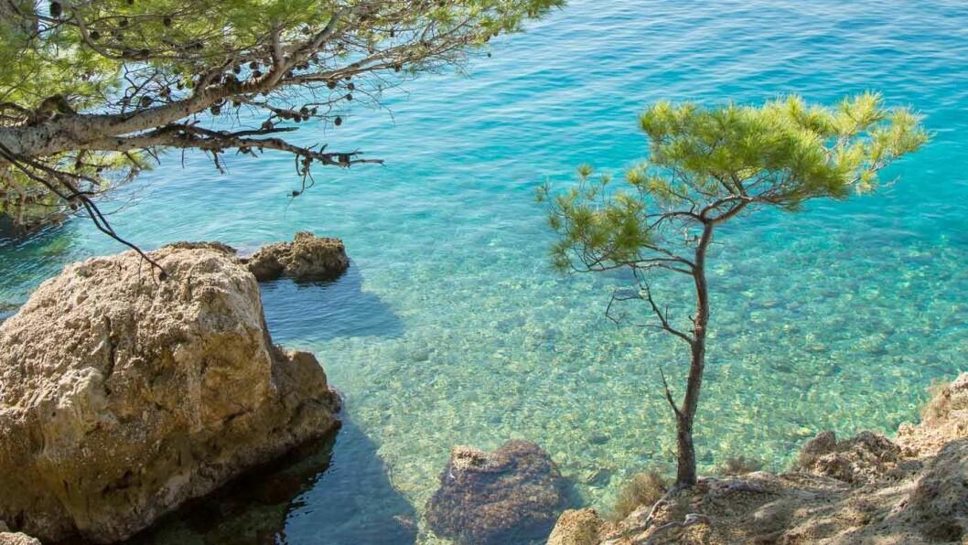 TURKISBLÅTT HAV: Punta Rata, stranden som er kåret til en av verdens beste. Foto: Siv-Elin Nærø