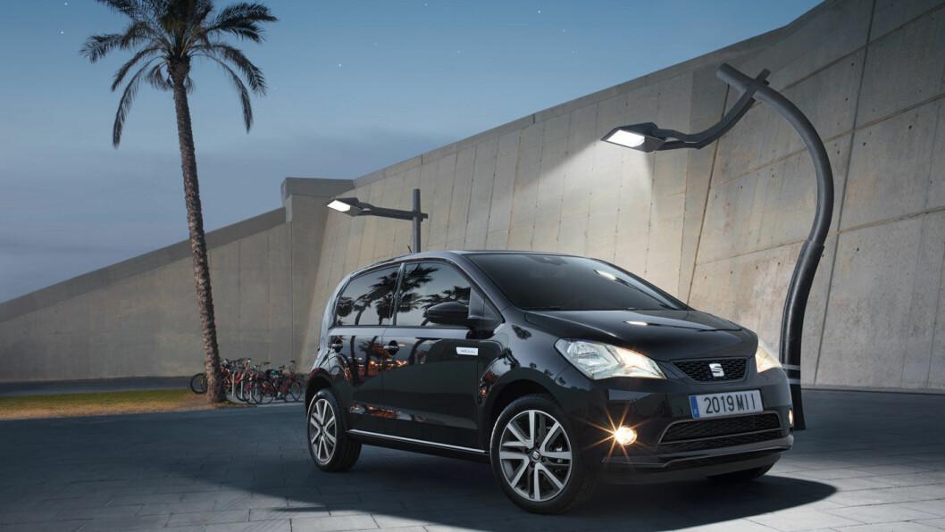 TRILLINGER: Seat Mii Electric er den rimeligste av de tre elektriske småbilene som nå kommer fra Volkswagen-konsernet.