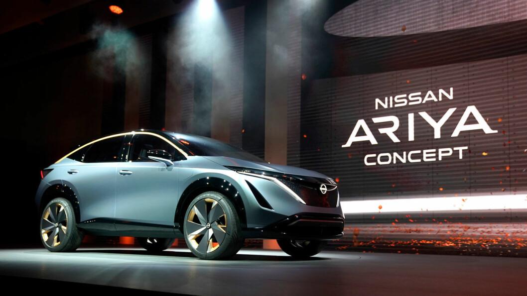 NESTE NISSAN: SUV-modellen Ariya er Nissans neste elbil.
