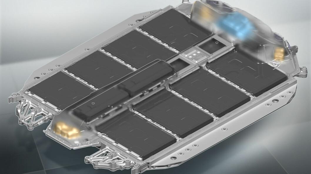 NESTE GENERASJON: Batteripakken i i4 blir svært flat med en vekt på rundt 550 kg.