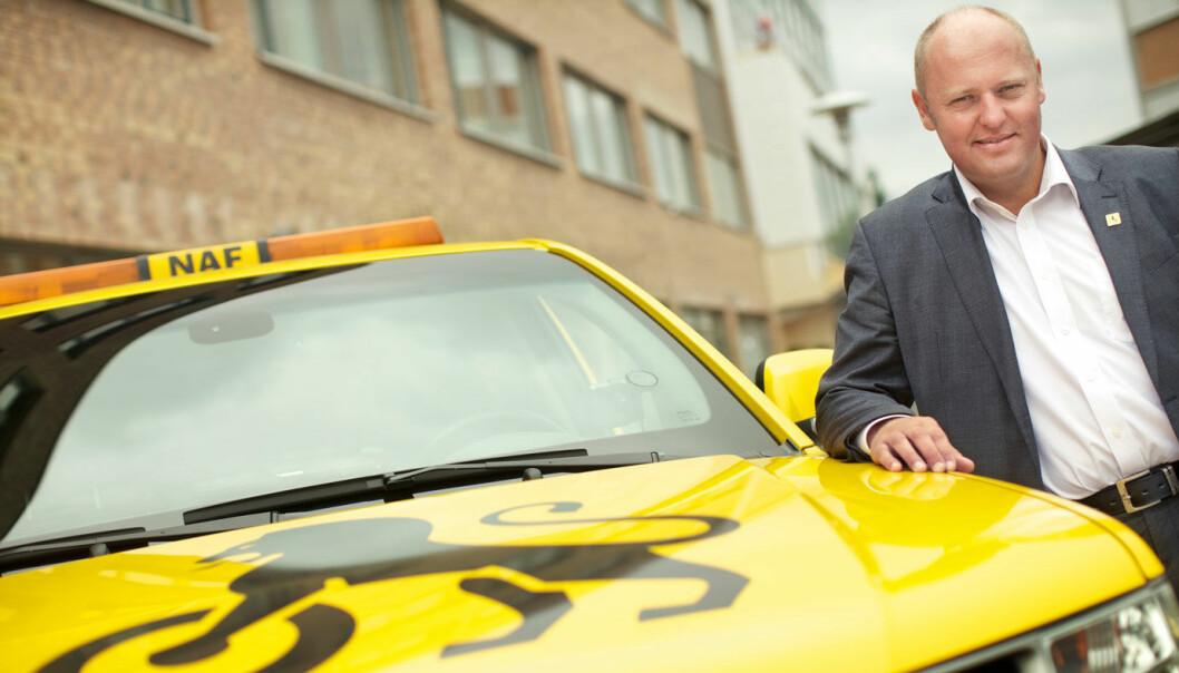 TESTER: Til våren vil NAF-direktør Stig Skjøstad vurdere et medlemskap rettet mot syklister, men det er det flere som reagerer negativt på.