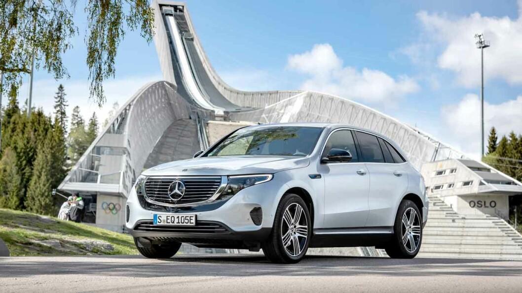 MYE FOR PENGENE: Mercedes EQC blir fort rundt 150.000 kroner rimeligere enn konkurrentene med omtrent identisk utstyr. Foto: Daimler