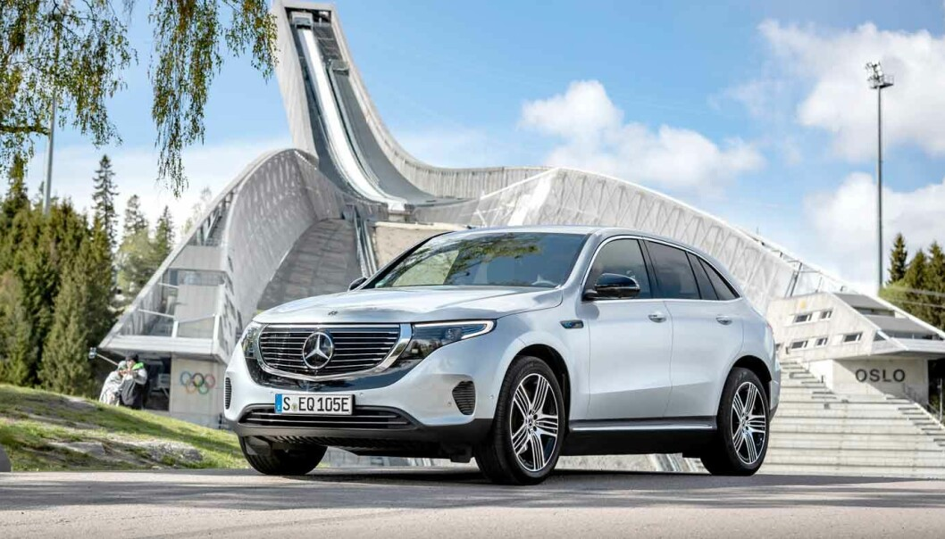 TILBAKEKALLES: Det er eksemplarer av Mercedes EQC produsert mellom 22. februar og 28. november 2019 som er berørt.