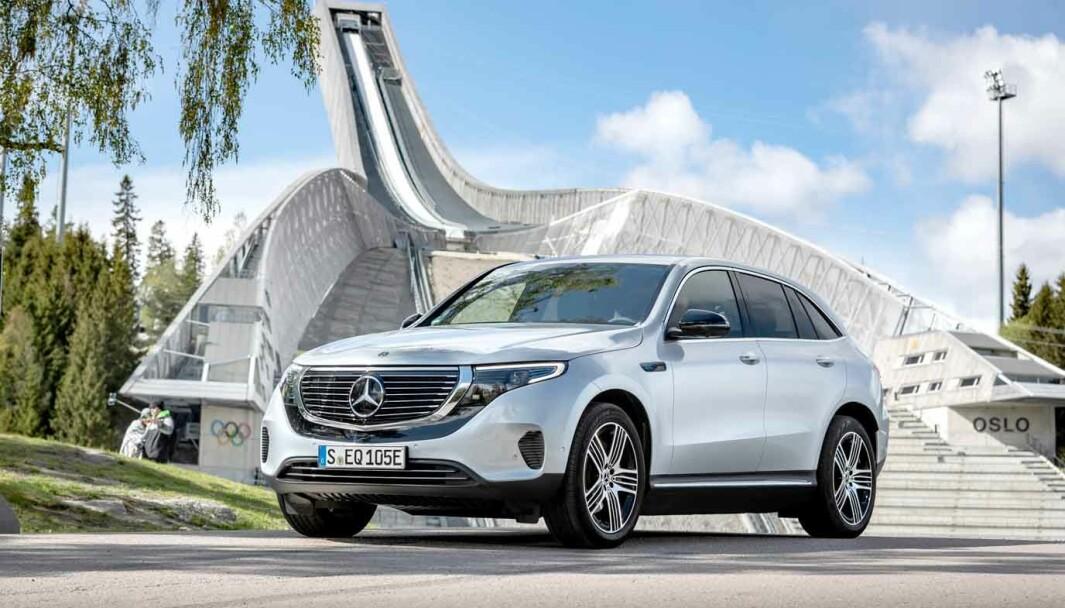 NORSKTOPPEN: Mercedes EQC var mest solgte bil i Norge i juli.