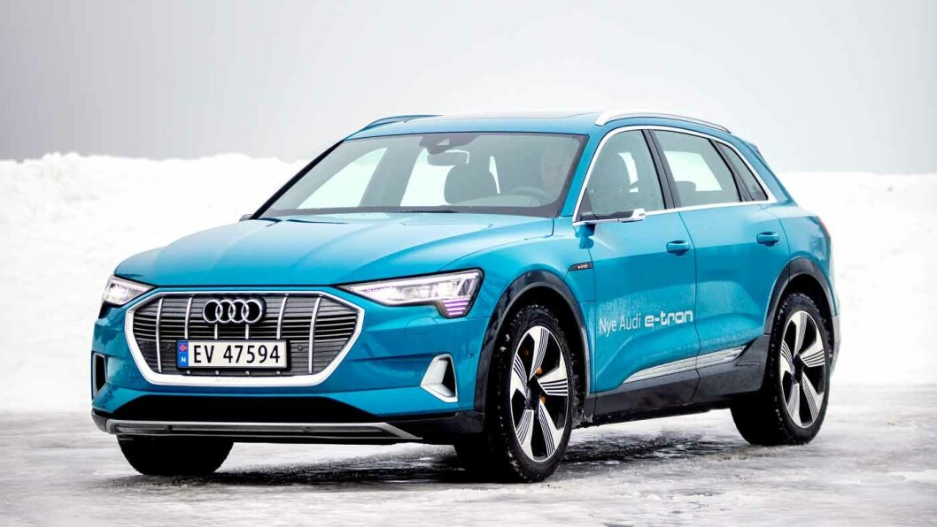 LEKREST AV ALLE: Audi e-tron tar teten blant luksus-elbilene på et par områder. Foto: Tomm W. Christiansen