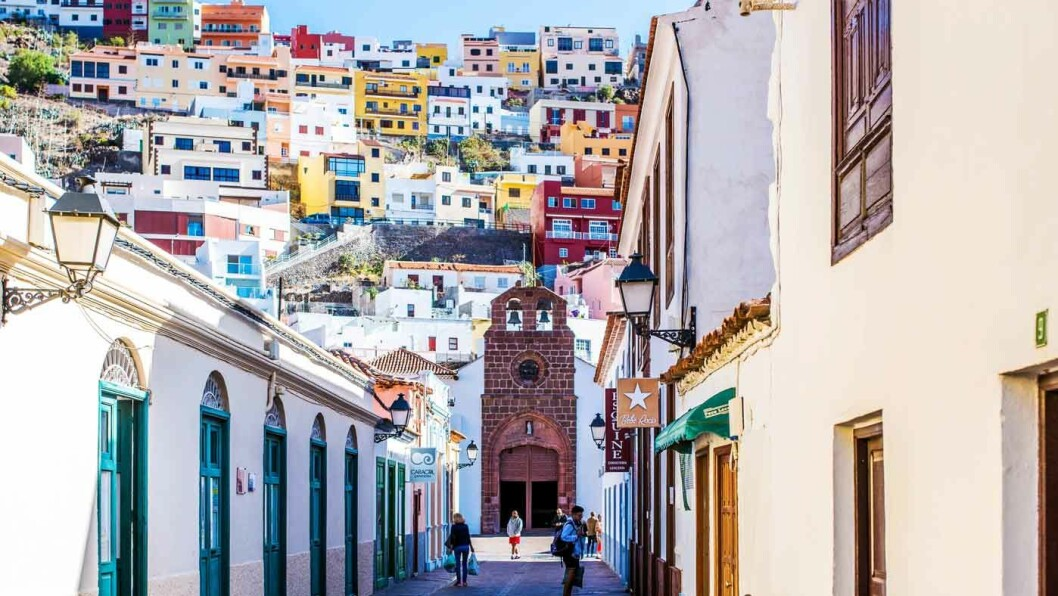 LAPPETEPPE: Hovedstaden San Sebastian er både særegen og fargerik. Foto: Bengt Nyman