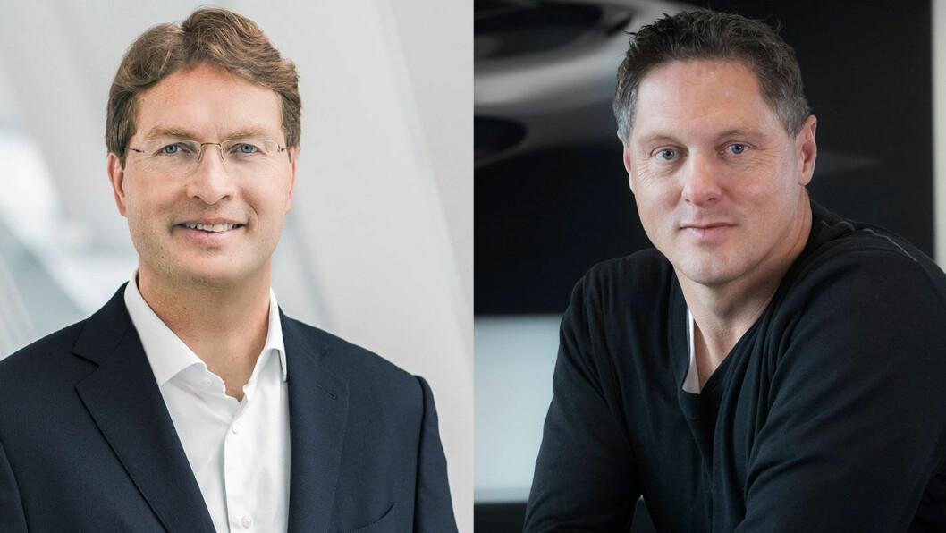 MERCEDES-SJEFER: Ola Källenius og Gordon Wagener (t.h.).