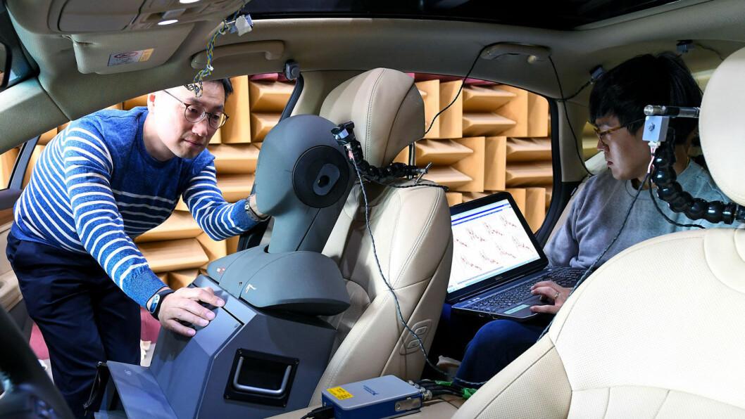STILLERE: Ny teknologi skal gi vesentlig mindre veistøy i Hyundais bilmodeller uten at det koster vekt. Dette blir spesielt viktig i elbiler med lite motorstøy og mye vekt. Foto: Hyundai Motor