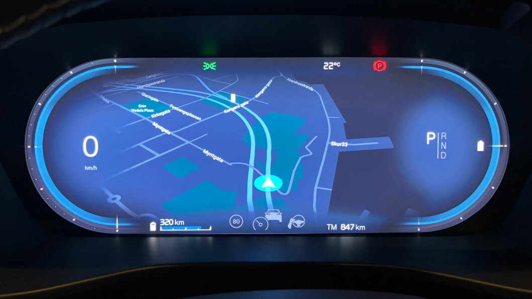 REDESIGN: Speedometeret er kraftig redesignet –og kommer med tre alternative visninger.