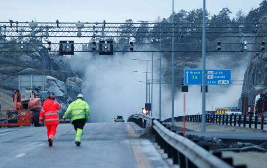 Hver tredje fjellskjæring på E18 gjennom Vestfold må sikres