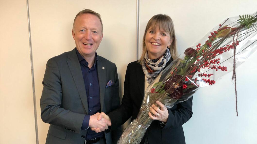 NYE VEIER: Adm. direktør Anette Aanesland og styreleder Harald V. Nikolaisen.