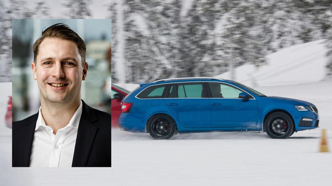 NYKOMMER: Inntil videre er det diesel som gjelder for Skoda-sjef Thomas Meiner, men snart kommer Skoda Octavia i helt ny versjon – og både som diesel og ladbar hybrid.