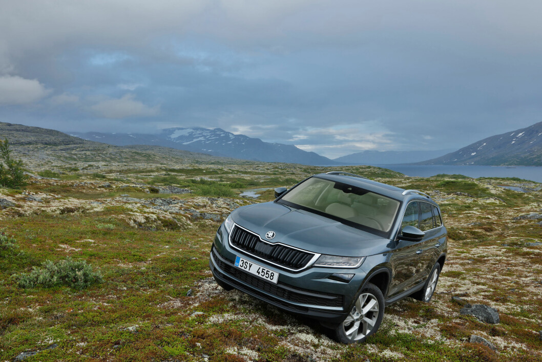 NORGE I MARS: Skoda Kodiaq kommer til Norge i mars. Den er fabrikkens første store SUV. Foto: Produsenten