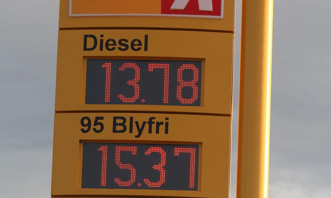 IKKE DYRT: Ser vi på utviklingen i kjøpekrfat fra 1966 til i dag, skulle en liter bensin egentlig koste 24 kroner. Foto: Rune Korsvoll