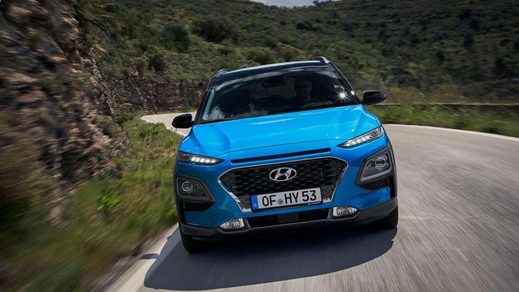 FLERKONARI: Hyundai Kona er svært etterspurt i helelektrisk versjon i Norge. Nå kommer den også i en ikke-ladbar hybridversjon. Foto: Hyundai Motor