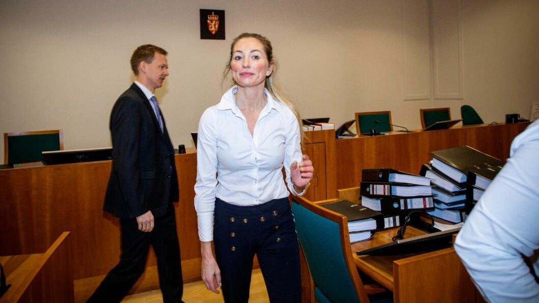 BLE SINT: Advokat Ida Andenæs fortalte om da bruktbilselgeren ble sint i tingretten i Arendal tirsdag. Foto: Tomm W. Christiansen
