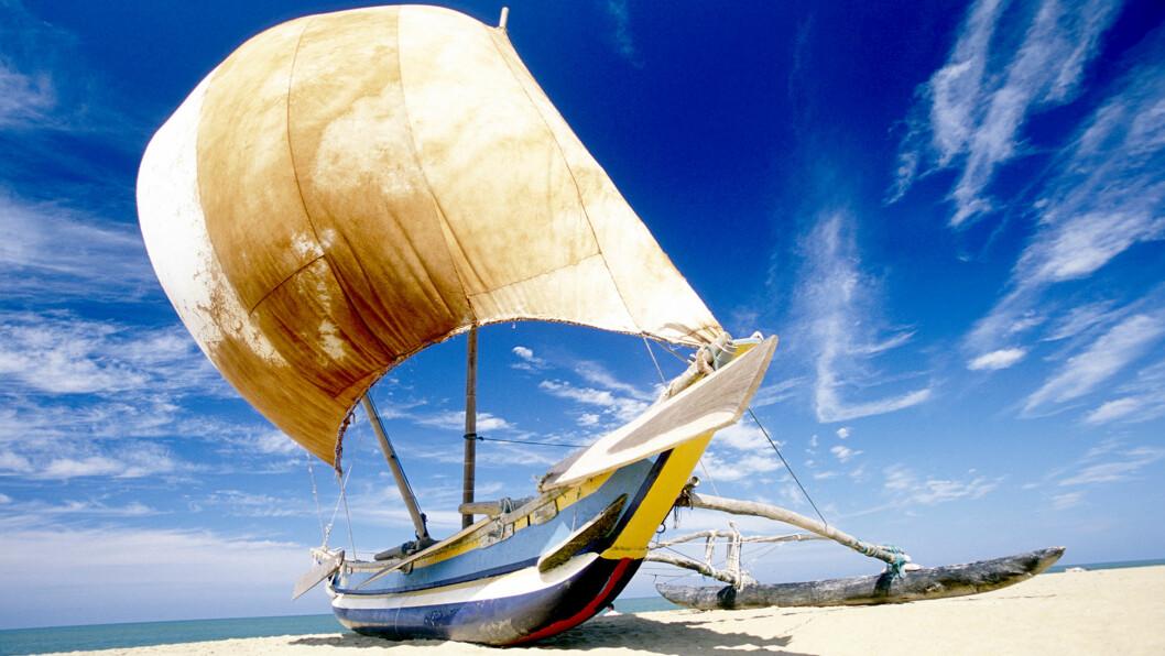 FISKERHAVN: Negombo er en liten fiske- og badeby like nord for hovedstaden Colombo.