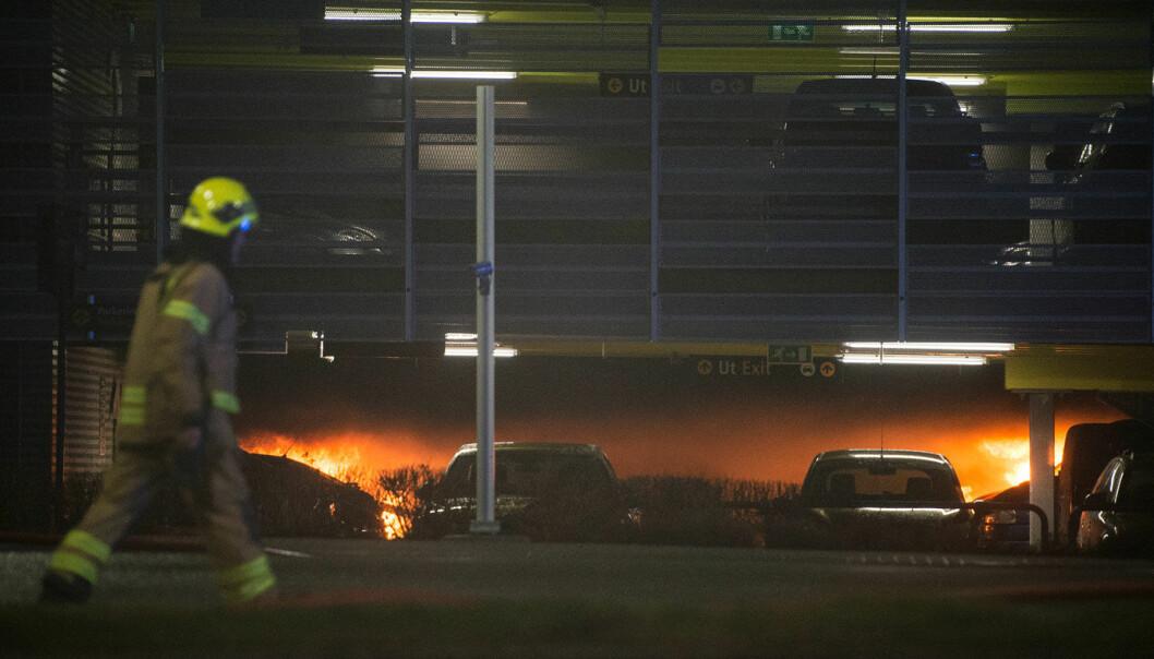 BRANN-DRAMA: Fra den store brannen på Stavanger lufthavn Sola i 2020.
