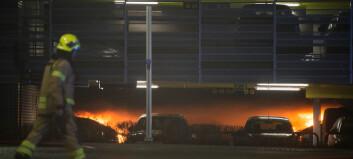 Storbrannen startet i en Opel Zafira