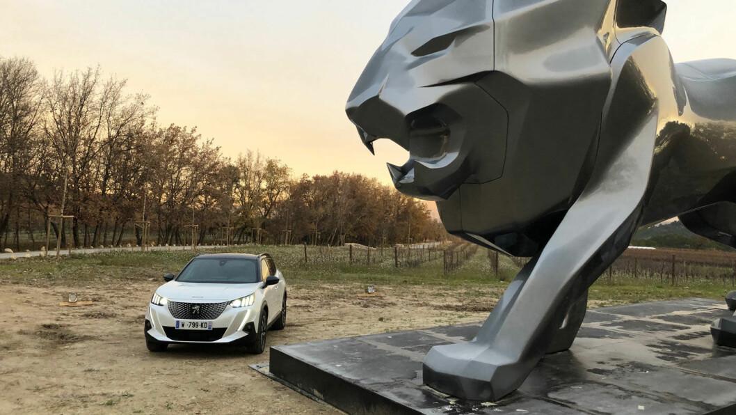 BEDRE OG DYRERE: Den elektriske utgaven av Peugeot 2008 løfter merket opp på et nytt nivå. Men bilene blir også dyrere, varsler Peugeot-sjefen. Foto: Øivind A. Monn-Iversen