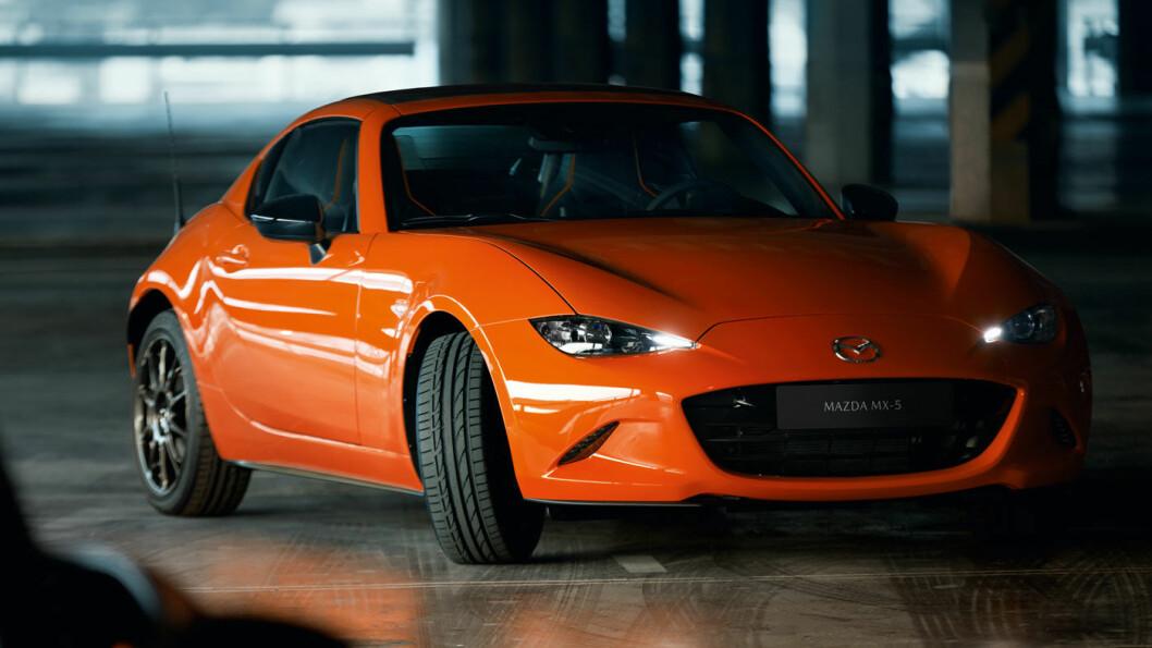 BANKER ALLE: «Folke-sportsbilen» Mazda MX-5 viser seg å være den mest driftssikre modellen i undersøkelsen, med hele 95 poeng av 100 oppnåelige.