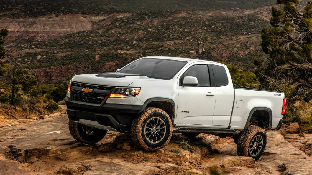 ELENDIG: Chevrolet Colorado kommer dårligst ut av samtlige modeller, med en score på lusne 4 poeng av 100! Foto: Chevrolet