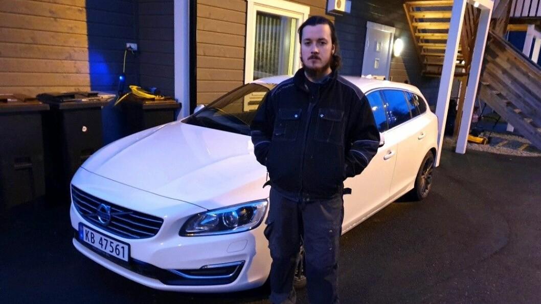 FEIL OG MANGLER: Markus Nordeng Selvig er tilkjent 40.000 kroner i prisavslag etter Volvoen han kjøpte for to år siden. Men han får ikke pengene fra bruktbilselgeren. Foto: Privat
