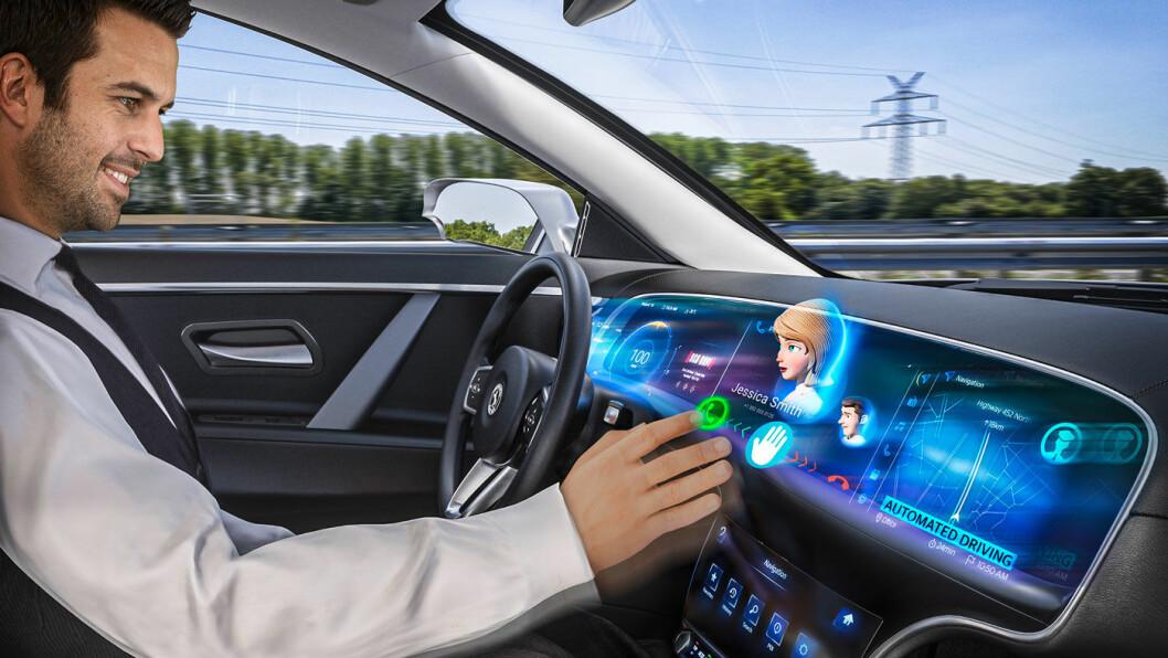 EN NY DIMENSJON: Med berøringsskjermen i 3D, vil Continental gi føreren en utvidet realitetsopplevelse av førermiljøet under kjøring. Foto: Continental