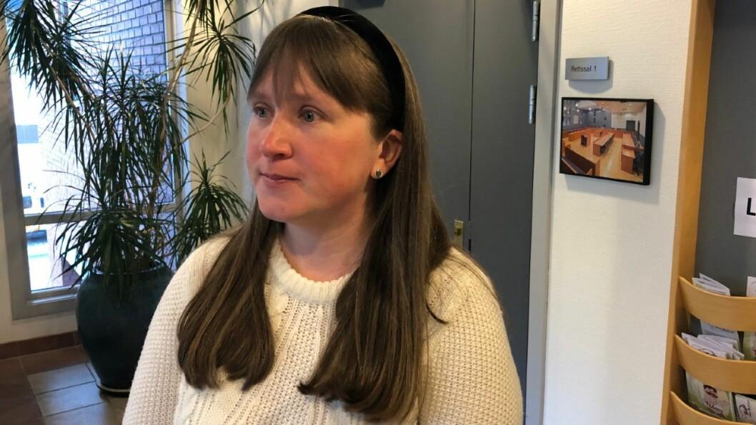 VITNET I RETTEN: Anita Kaland kjøpte bruktbil av Geir Egil Olsen. Torsdag vitnet hun i retten mot han. Foto: Geir Røed
