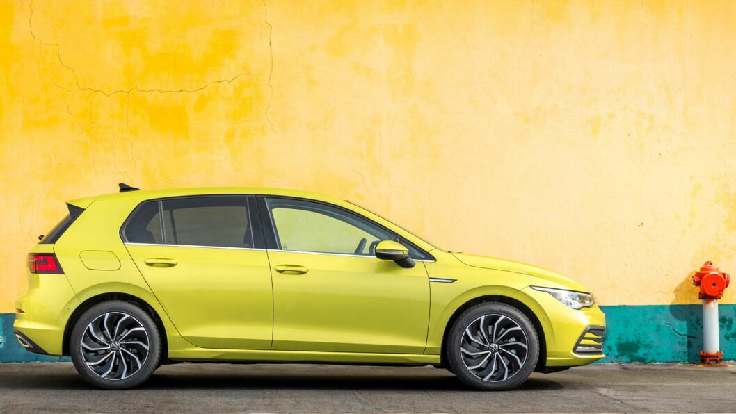 GILDE FARGER: Åttende generasjon VW Golf skal ikke være kjedelig, om vi skal tolke fargevalget. Foto: Volkswagen AG