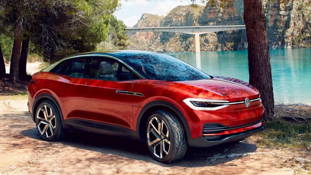VW ID.4: Batteri 55/62/83 kWt. Rekkevidde opptil over 500 km. Pris ikke kjent.4WD: Ja. Tilhengerfeste: Ja, 1600 kg (konseptbilen).