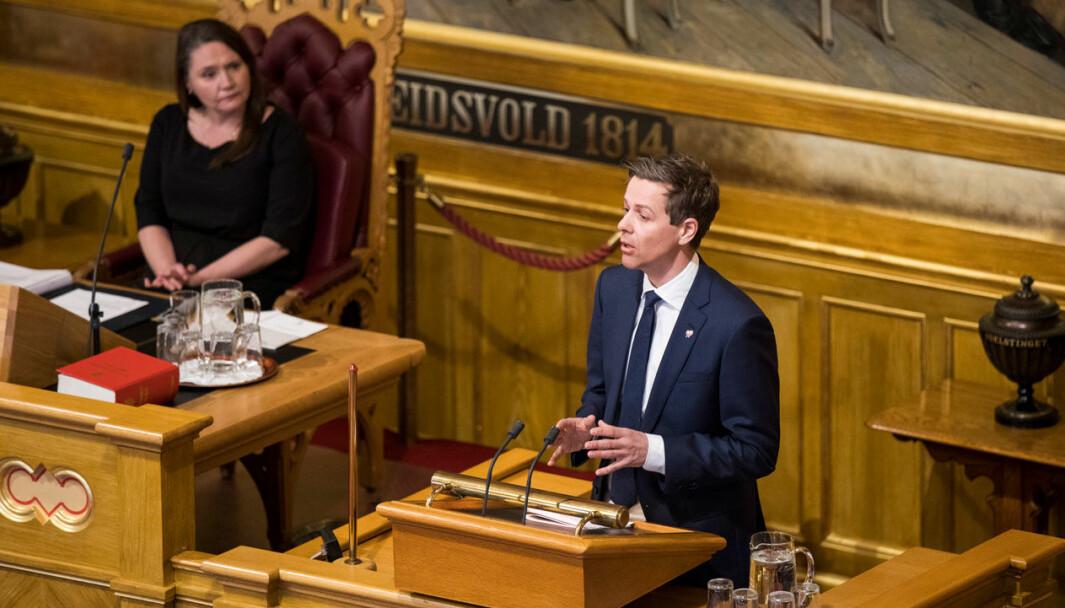 GJELDEN VOKSER: Samferdselsminister Knut Arild Hareide